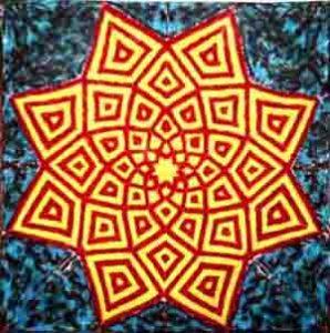tapestry-starburst fractal-48 inch